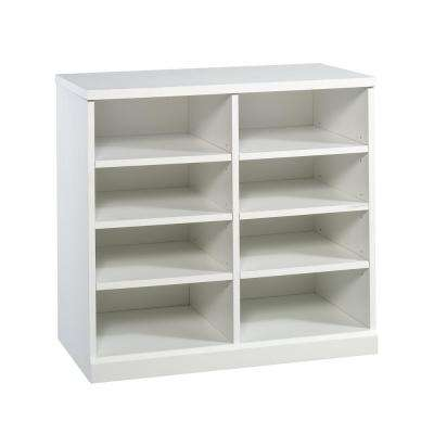 HomeVisions White Open Storage Cabinet