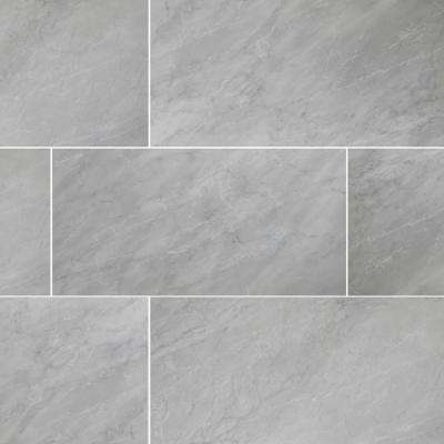 Marmi Reale Bardiglio 16 In X 32 Glazed Porcelain Floor And Wall Tile 10 33 Sq Ft Case