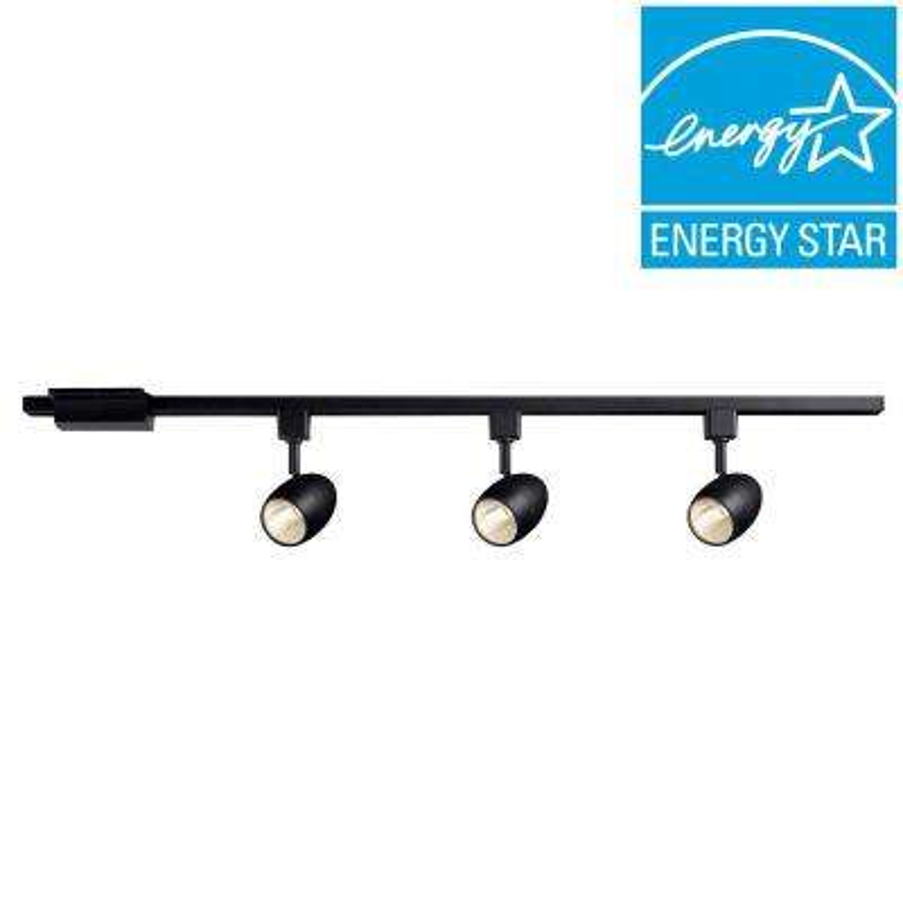 39.37 in. 3-Light Black Dimmable LED Track Lighting Kit