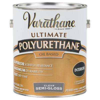 1 gal. Clear Semi-Gloss 275 VOC Oil-Based Interior Polyurethane (2-Pack)