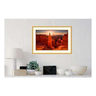 31 in. W x 22 in. H 'Thor's Hammer Sunrise' by Mike Hitchner Framed Print Wall Art