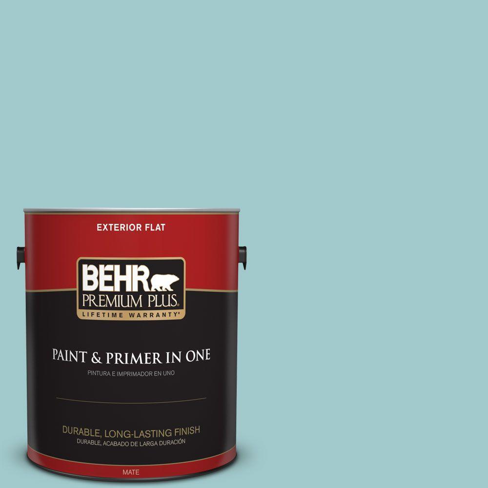 1 gal. #HDC-SP16-08 Blue Bell Flat Exterior Paint