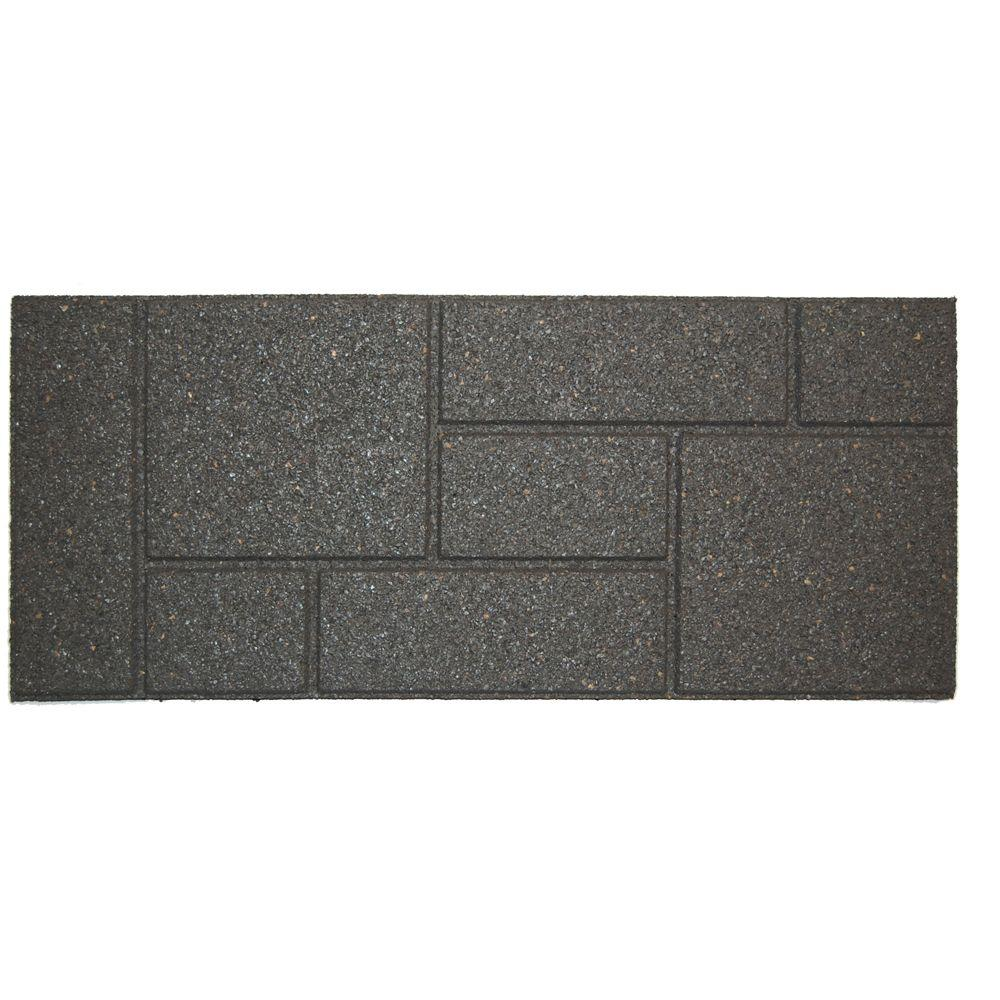 Envirotile Cobblestone 10 In. X 36 In. Gray Stair Tread (4 Pack