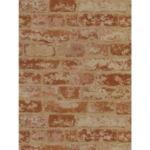 York Wallcoverings Stuccoed Brick Wallpaper by York Wallcoverings