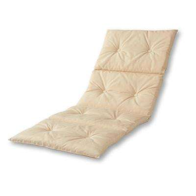 Solid Sand Outdoor Chaise Lounge Pad