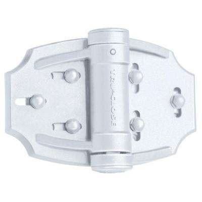 Tru-Close White Vinyl Fence Hinge Set