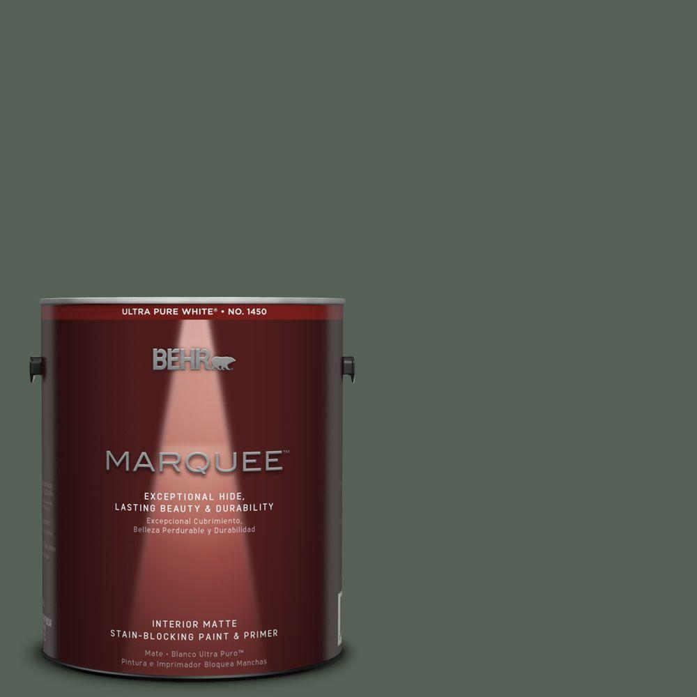 1 gal. #MQ6-14 Northern Glen One-Coat Hide Matte Interior Paint