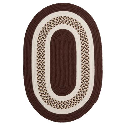 Spiral II Brown 2 ft. x 12 ft. Indoor/Outdoor Runner Rug