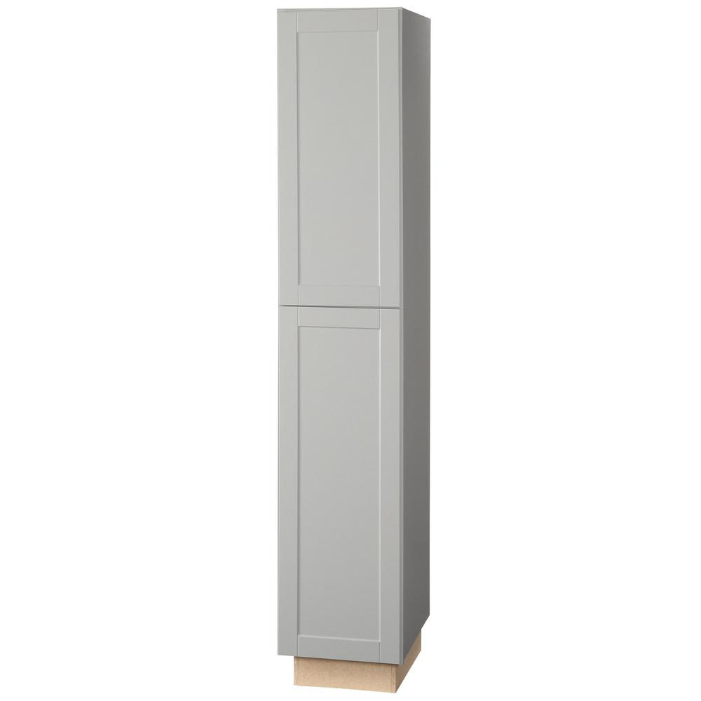 Hampton Bay Shaker Assembled 18x96x24 In. Pantry Kitchen