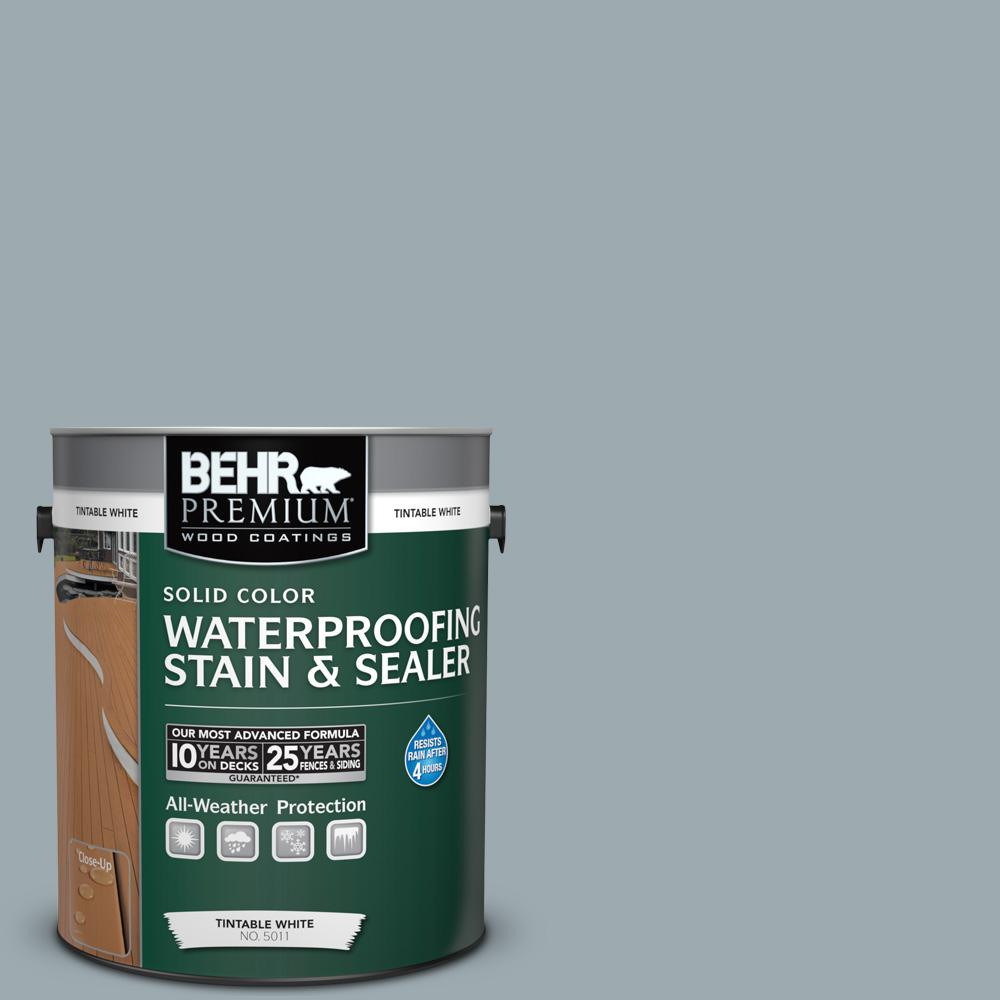 1 gal. #ECC-30-1 Pelican Bay Solid Color Waterproofing Exterior Wood Stain