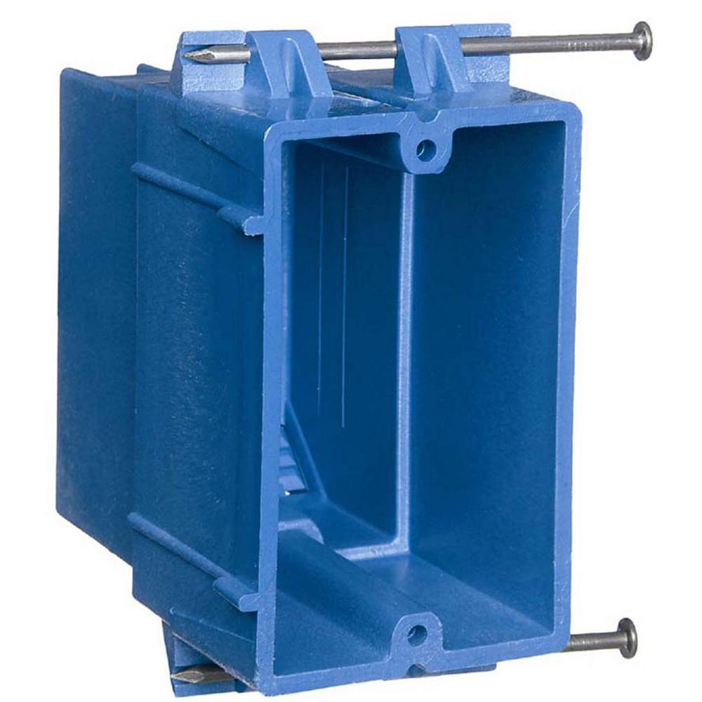 carlon 1-gang 22 cu. in. heavy new work electrical box ... 1 gang electrical fuse box 1990 1 8 volkswagen fuse box #10