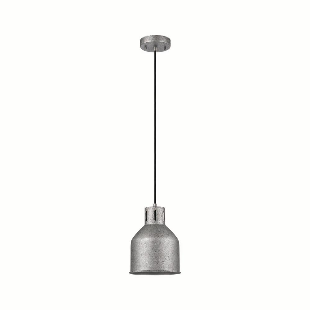 Bronn 1-Light Galvanized Pendant
