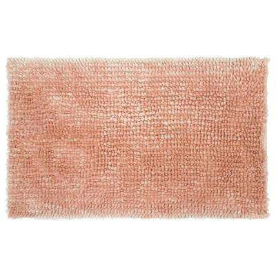 Butter Chenille 20 in. x 34 in. Bath Mat, Blush