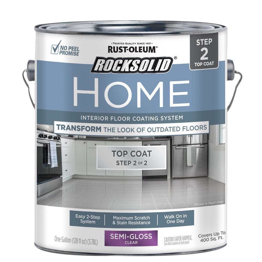 Rust-Oleum RockSolid Rust-Oleum RockSolid Home 1 gal. Semi-Gloss Clear Interior Floor Topcoat