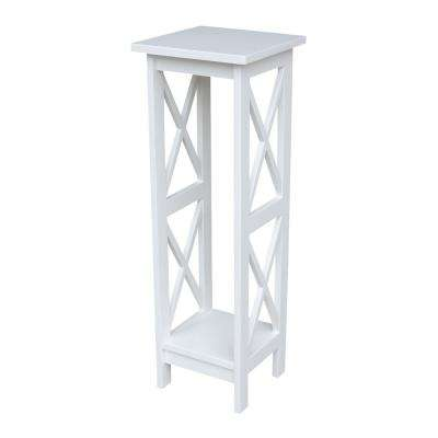 36 in. H White Plant Stand