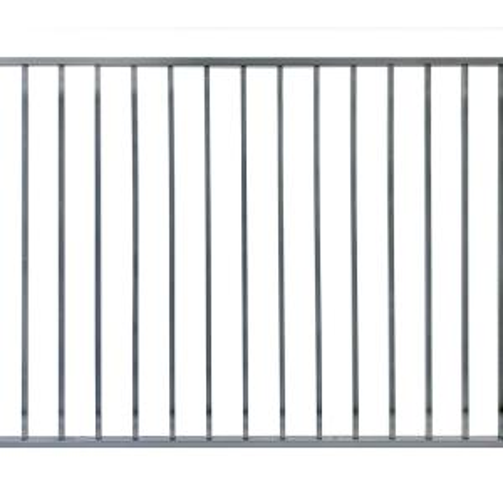 Barrette Outdoor Living Cascade Standard Duty 4 Ft H X 6 Ft W Black Aluminum Pre Assembled Fence Panel 73002210 The Home Depot