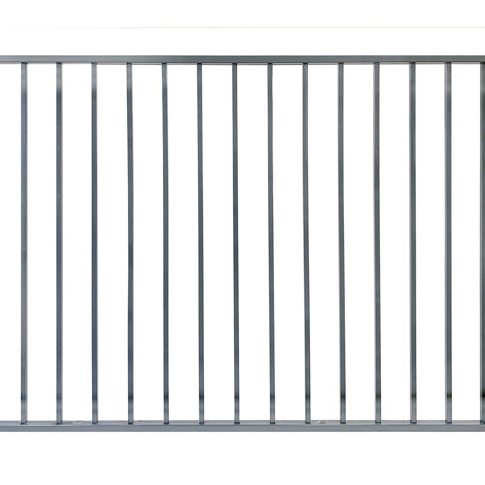 4 ft. x 6 ft. Slate Grey Metal EZI Fence Panels