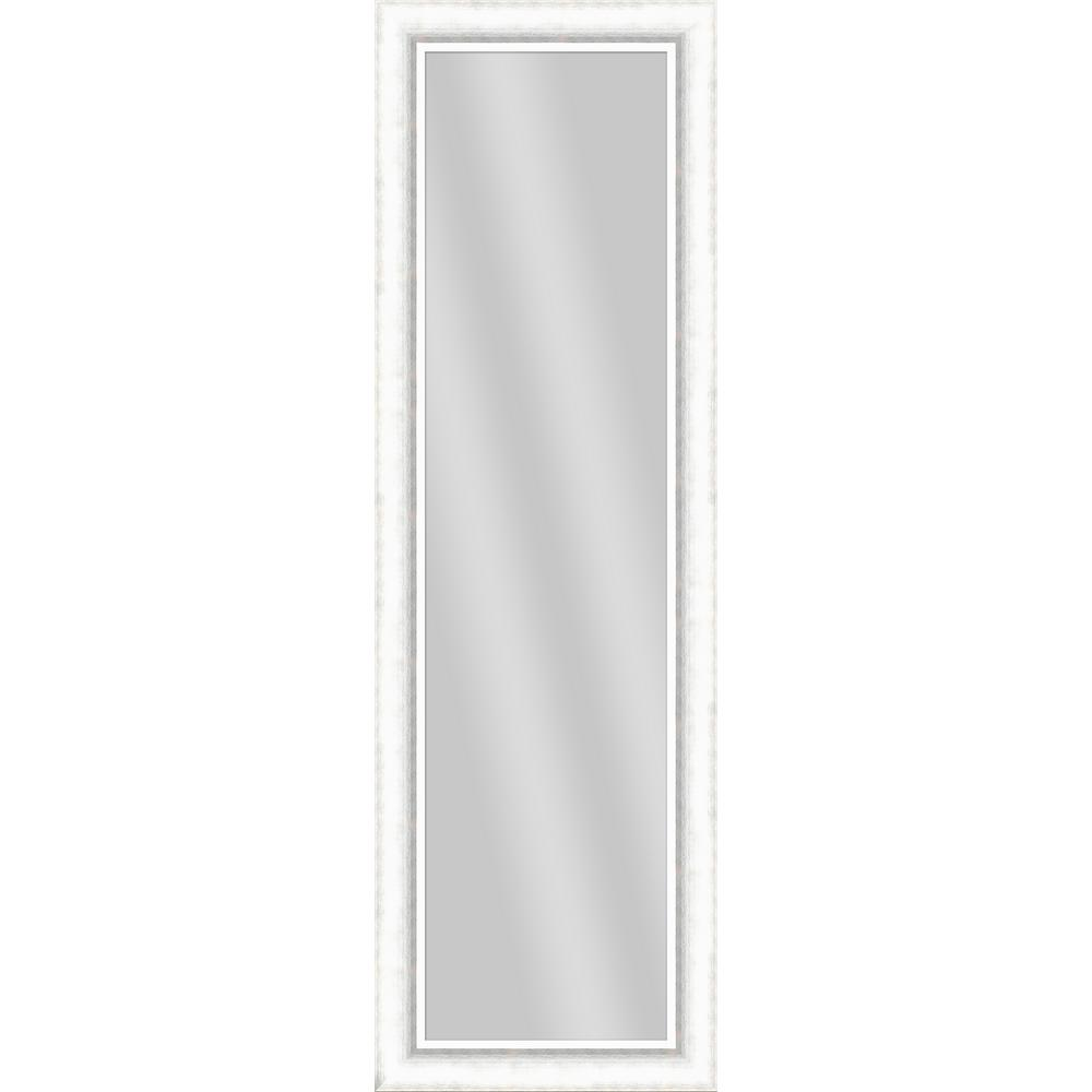 52.5 in. x 16.5 in. White Framed Mirror