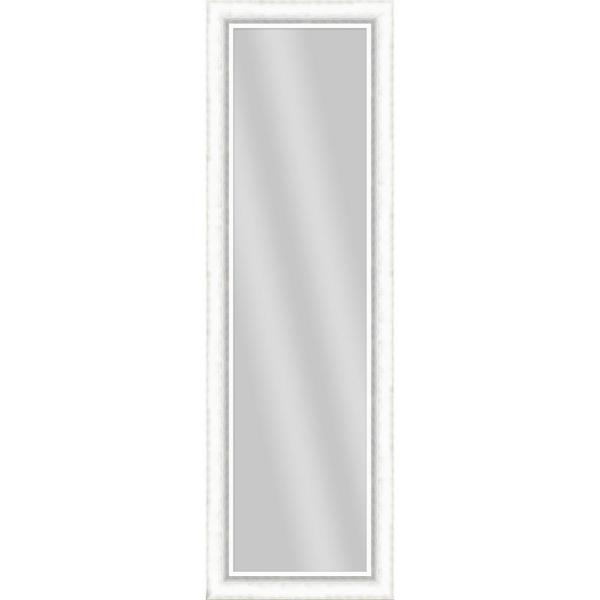Large Rectangle White Art Deco Mirror (52.5 in. H x 16.5 in. W)