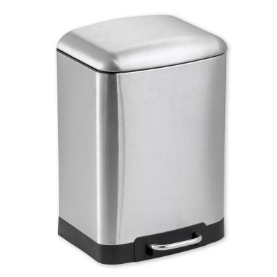 b68ab992aea Home Basics 1.58 Gal. Stainless Steel Soft Close Trash Can-WB41456 ...