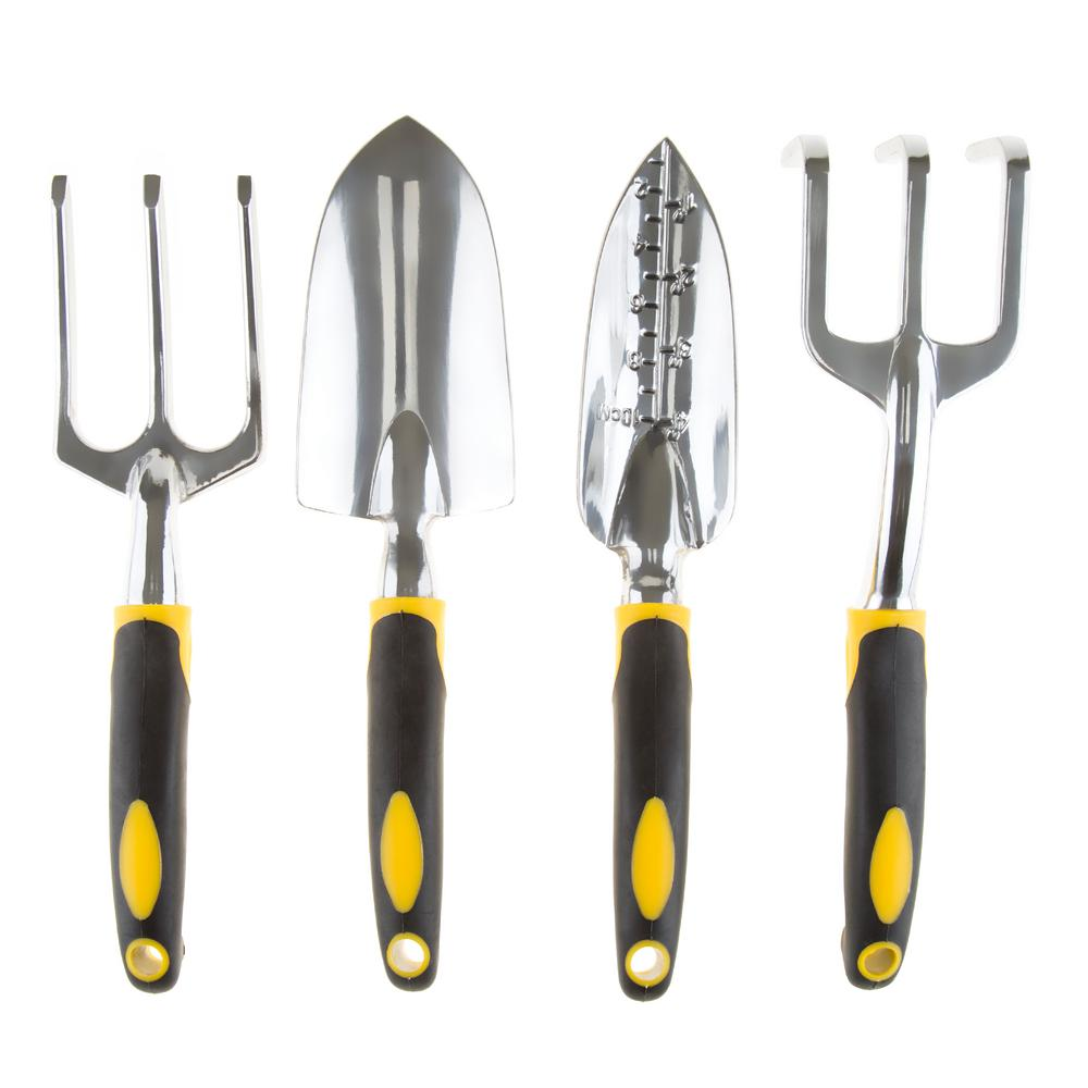 Pure garden garden tools set 4 pieces m150061 the home for Gardening tools list 94