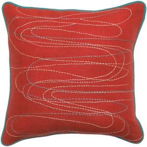 Artistic Weavers StitchedA 18 inch x 18 inch Decorative Down Pillow by Artistic Weavers
