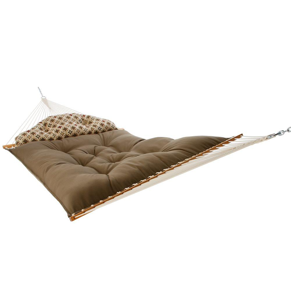 null 156 in. Tufted Hammock with Pillow Cocoa and Mango