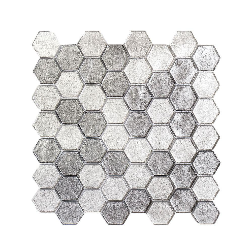 Schuyler Grey 11-7/8 in. x 12 in. x 6 mm Glass