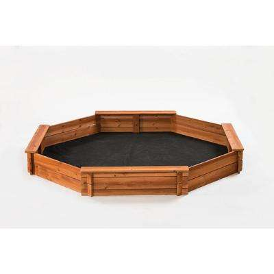 Octagon 6.5 ft. x 7 ft. Sandbox Kit with Cover