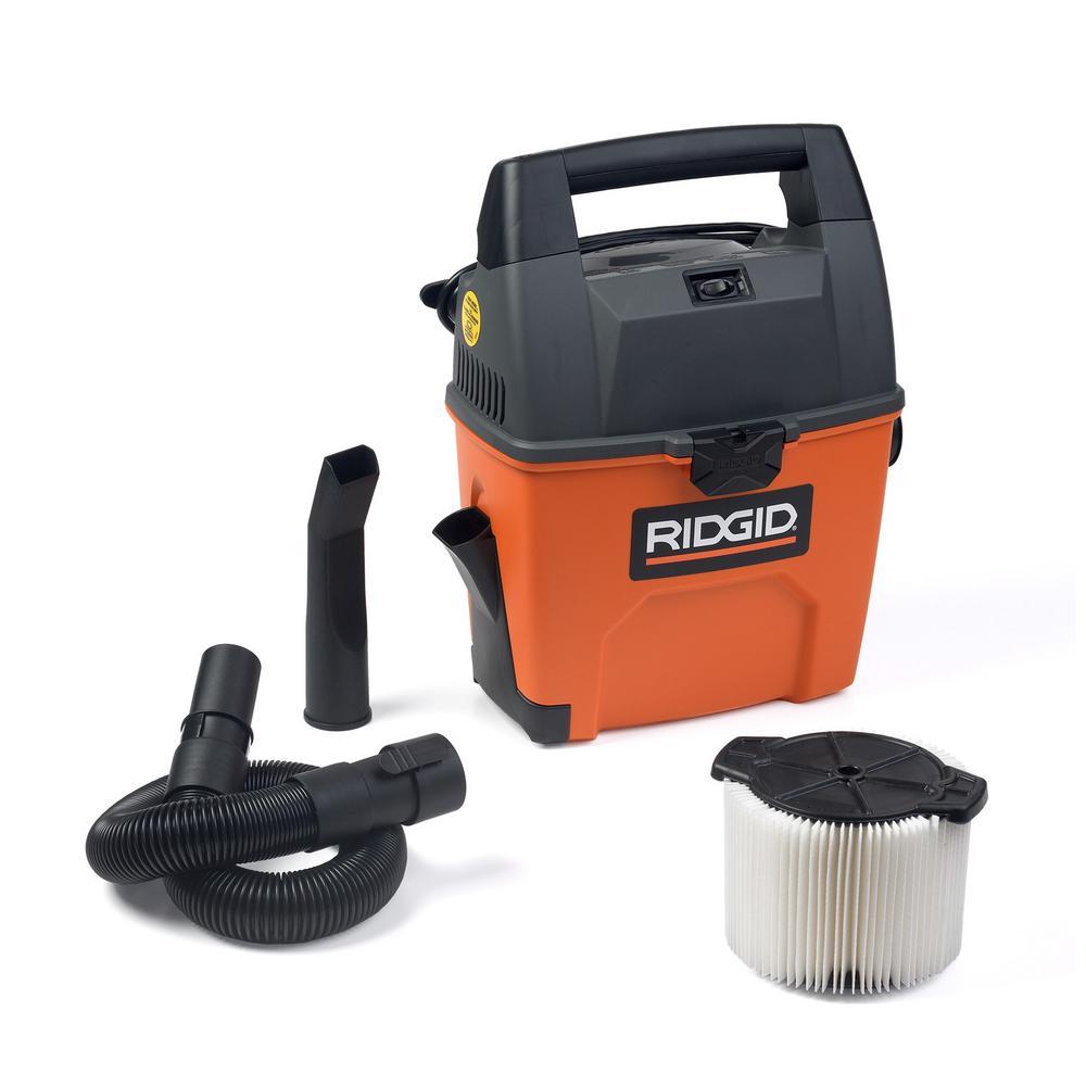 Ridgid 3 Gal 3 5 Peak Hp Portable Pro Wet Dry Vac Wd3050