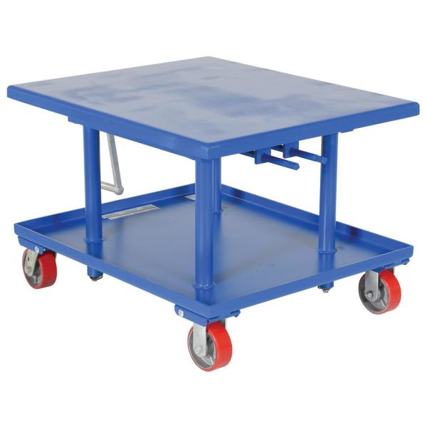 2,000 lb. Capacity 30 in. x 36 in. Low Profile Manual Mechanical Post Table