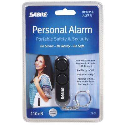Sabre Personal Alarm - Black Key Chain with Loud Attention Grabbing Siren