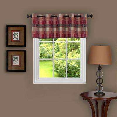 Harvard 14 in. L Polyester Valance in Burgundy