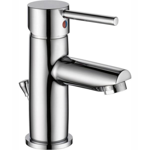 Modern Single Hole Single-Handle Project-Pack Bathroom Faucet with Metal Pop-Up in Chrome