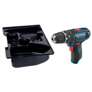 Bosch 12 Volt Lithium-Ion Cordless 3/8 inch Variable Speed Hammer Drill/Driver with Exact-Fit Insert Tray... by Bosch