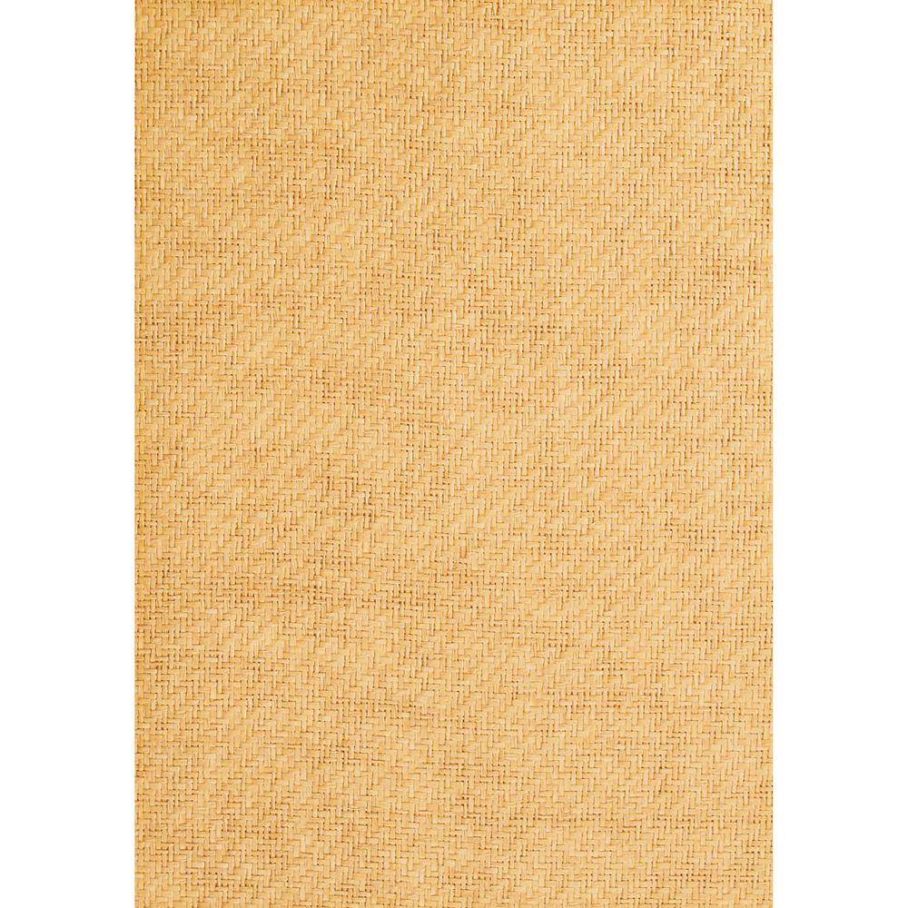 The Wallpaper Company 72 sq. ft. Orange Grasscloth Wallpaper-DISCONTINUED