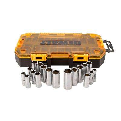 3/8 in. Drive Deep Combination Socket Set with Case (20-Piece)
