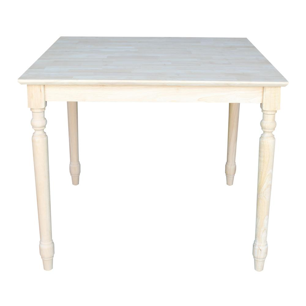 International Concepts Unfinished Dining Table-K-6-6T - The Home Depot
