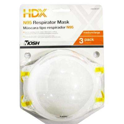 N95 Disposable Respirator Blister (3-Pack)