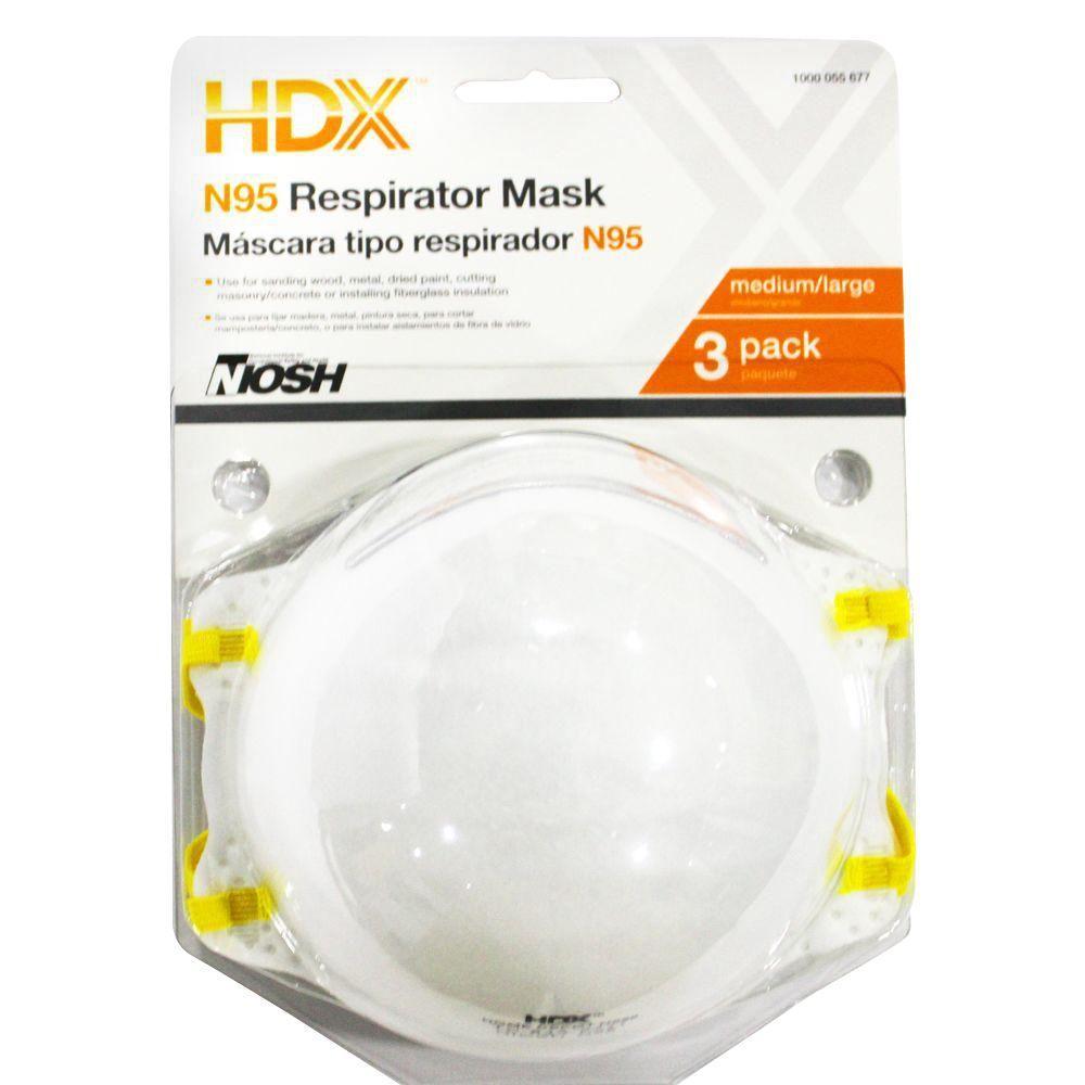 N95 Disposable Respirator Blister (3-Pack)