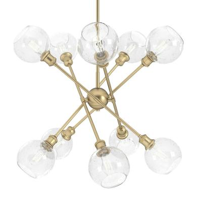 Axel 10-Light Olympic Gold Sputnik Chandelier