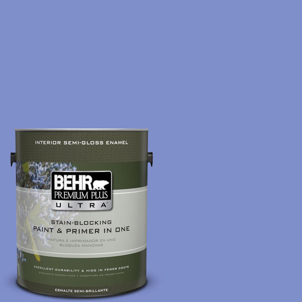 BEHR Premium Plus Ultra 1-gal. #P540-5 Pansy Garden Semi-Gloss Enamel Interior Paint