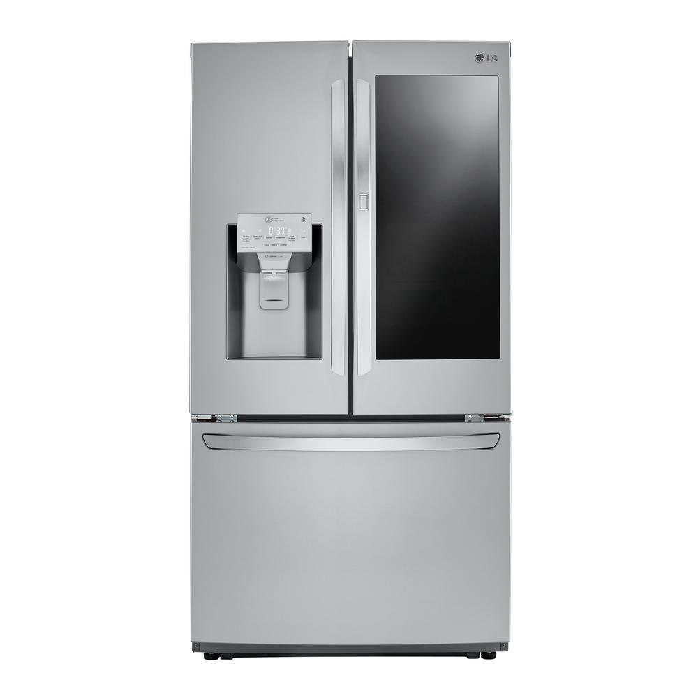 26 cu. ft. 3-Door French Door Smart Refrigerator with InstaView Door-in-Door in Stainless Steel, Counter Depth