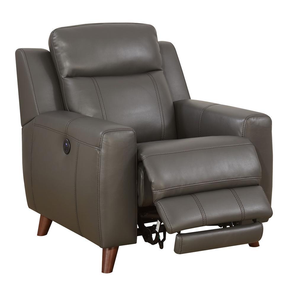 Rosalynn gray transitional style living room chair