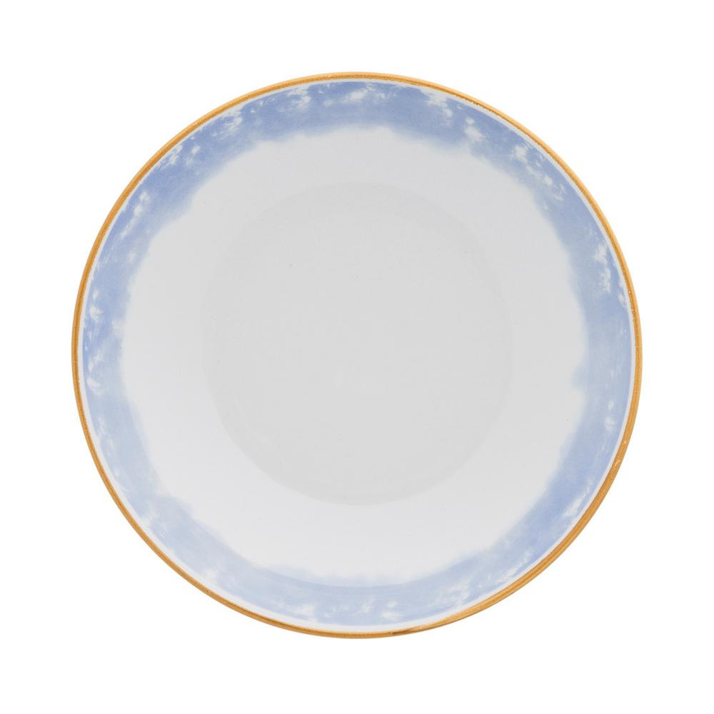 Manhattan Comfort Coup 28 oz. Blue and Yellow Porcelain Soup Bowls (Set of 12) was $149.99 now $87.59 (42.0% off)