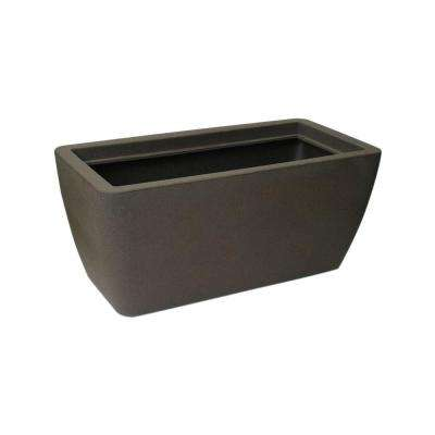 Manhattan 40 in. x 20 in. x 18 in. Brownstone Plastic Planter