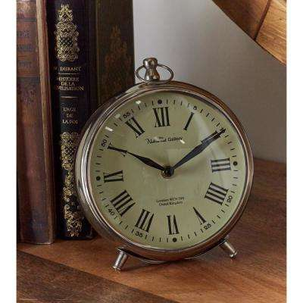 Modern Silver Table Clock