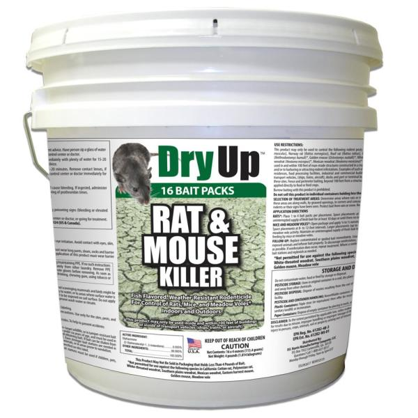 4 lbs. Dry Up Rat and Mouse Killer Pellets (4 oz. 16-Pack)