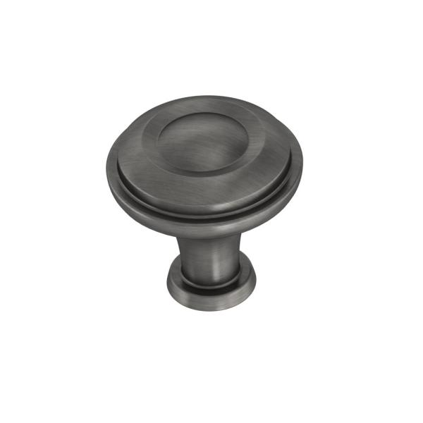 Rustic Farmhouse 1-1/4 in. (32mm) Heirloom Silver Round Cabinet Knob