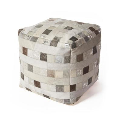 Foil Elements Ivory Geometric Hypoallergenic Polyester 18 in. x 18 in. Throw Pillow